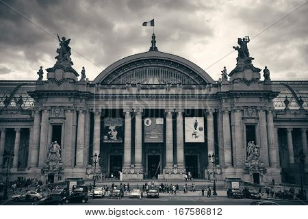 PARIS, FRANCE - MAY 13: Grand Palais and street view on May 13, 2015 in Paris. With the population of 2M, Paris is the capital and most-populous city of France