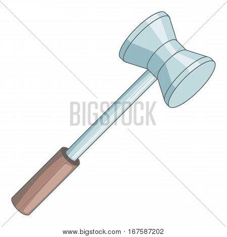 Medical reflex hammer icon. Cartoon illustration of medical reflex hammer vector icon for web