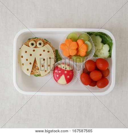 Ladybug ladybird healthy lunch box fun food art for kids