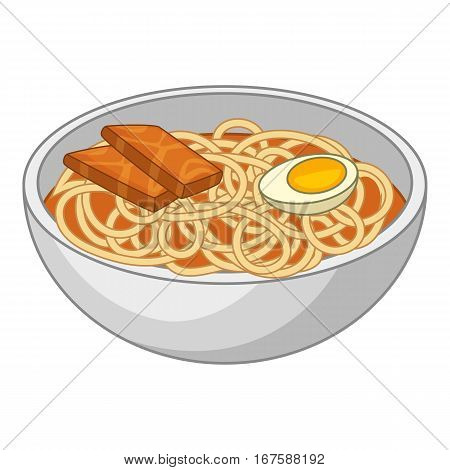 Udon noodles icon. Cartoon illustration of udon noodles vector icon for web