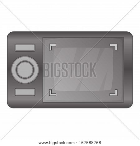 Camera viewfinder with exposure icon. Cartoon illustration of camera viewfinder with exposure vector icon for web