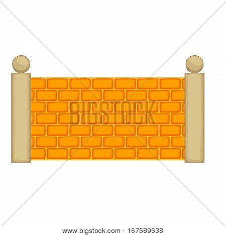 Concrete fence icon. Cartoon illustration of concrete fence vector icon for web