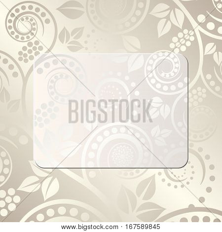 floral background with copy space - vector illustration