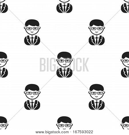Business man black icon. Illustration for web and mobile. - stock vector