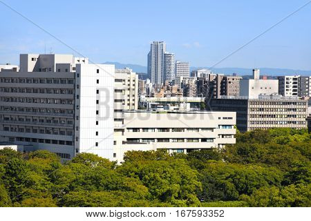 NAGOYA,JAPAN -SEPTEMBER 13: Nagoya cityscape on September 13,2014, Is third largest metropolitan area in Japan, Area's population is about 8.74 million people