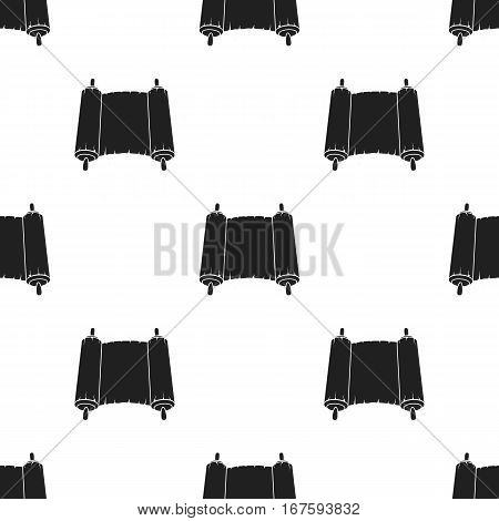 Tanakh icon in black style isolated on white background. Religion pattern vector illustration. - stock vector