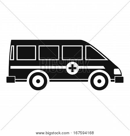 Ambulance emergency van icon. Simple illustration of ambulance emergency van vector icon for web