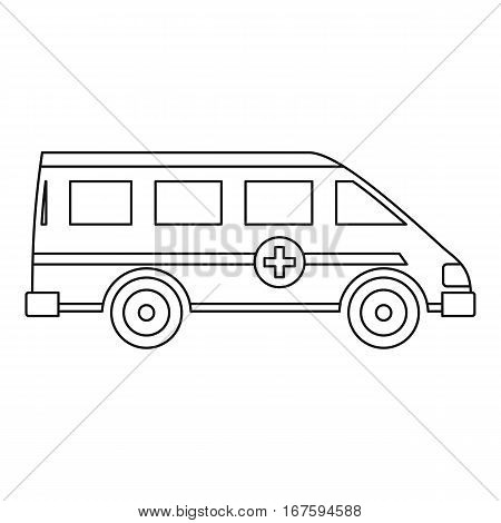 Ambulance emergency paramedic car icon. Outline illustration of ambulance emergency paramedic car vector icon for web
