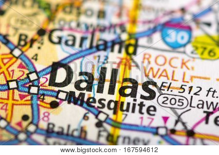 Dallas, Texas On Map