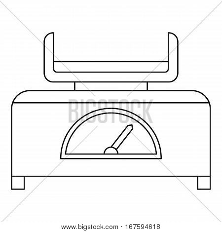 Baby scale icon. Outline illustration of baby scale vector icon for web