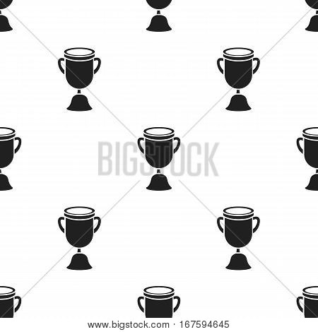 Goblet icon black. Single education icon from the big school, university black. - stock vector