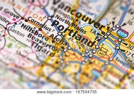 Portland, Oregon On Map