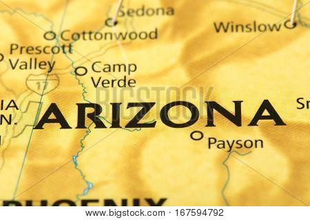 Arizona On Map