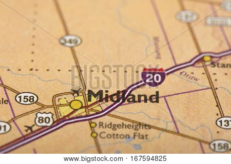 Midland, Texas On Map