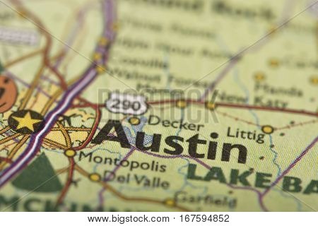 Austin, Texas On Map