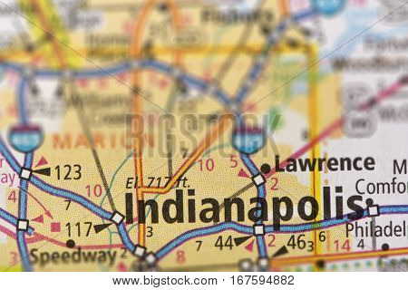 Indianapolis, Indiana On Map