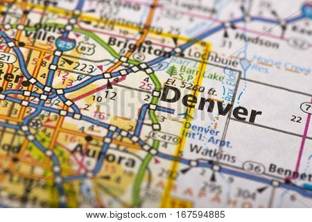 Denver, Colorado On Map