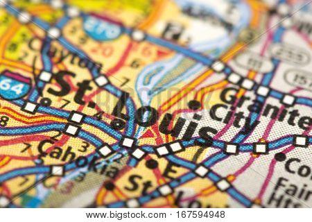 St. Louis, Missouri On Map