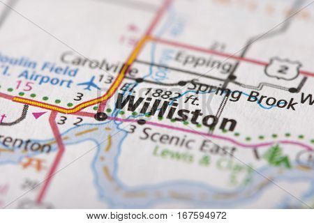 Williston, North Dakota On Map