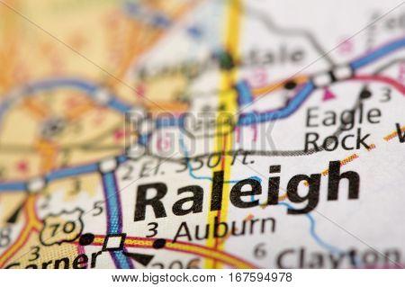 Raleigh, North Carolina On Map