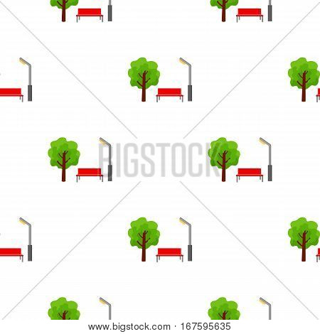 Park icon in cartoon style isolated on white background. Play garden pattern vector illustration. - stock vector