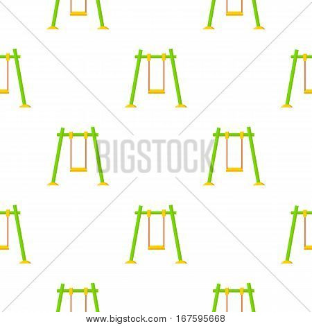 Swing icon in cartoon style isolated on white background. Play garden pattern vector illustration. - stock vector
