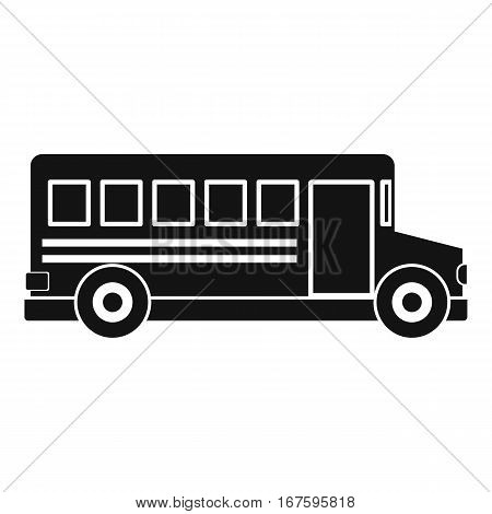 School bus icon. Simple illustration of school bus vector icon for web