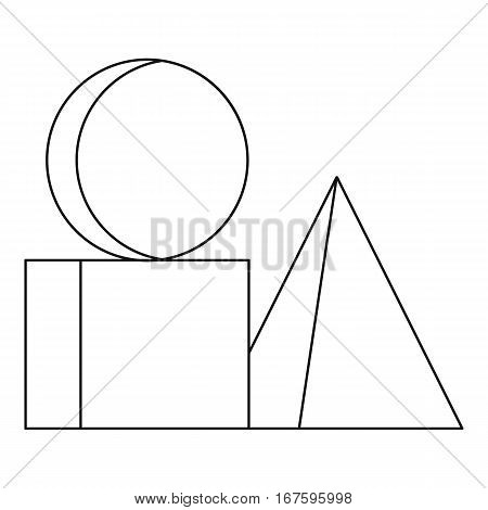 Box of bricks icon. Outline illustration of box of bricks vector icon for web