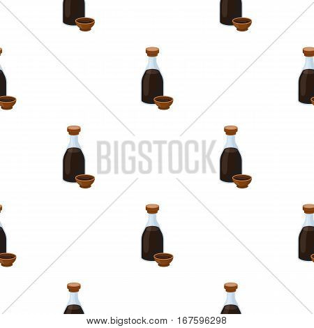 Soy sauce icon in cartoon style isolated on white background. Sushi pattern vector illustration. - stock vector