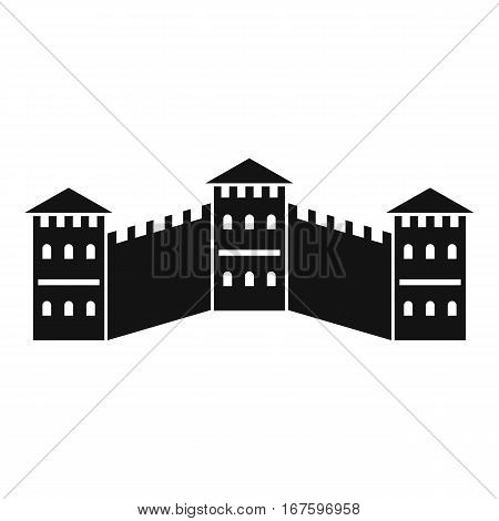 Great Wall of China icon. Simple illustration of Great Wall of China vector icon for web