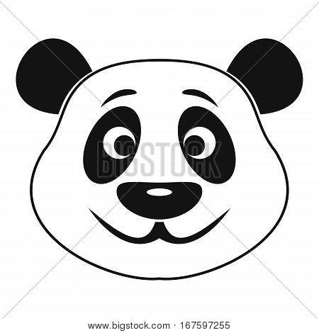 Panda icon. Simple illustration of panda vector icon for web