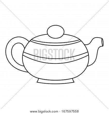 Teapot icon. Outline illustration of teapot vector icon for web