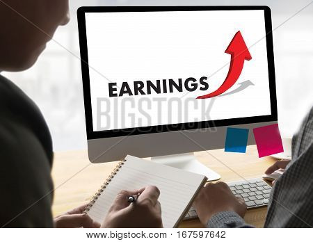 Businessman Success Increase Growth Earnings Quality Improve Your Skills And Make Things Better To I