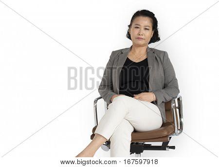 Asian Business Woman Sitting