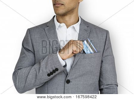 Business Man Credit Card Concept