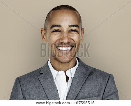 African Descent Business Man Smiling Concept