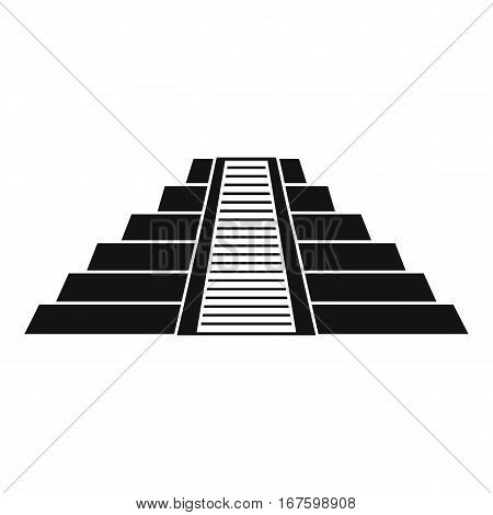Ziggurat in Chichen Itza, Yucatan icon. Simple illustration of Ziggurat in Chichen Itza, Yucatan vector icon for web