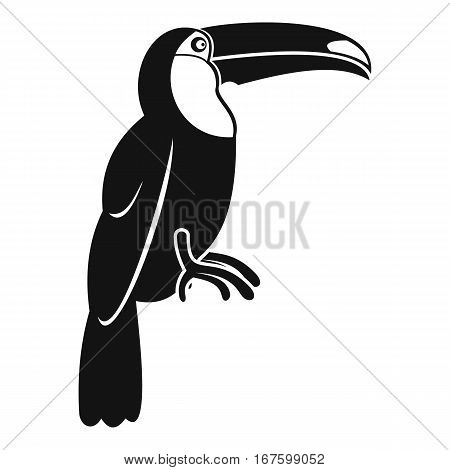Brazilian toucan icon. Simple illustration of brazilian toucan vector icon for web