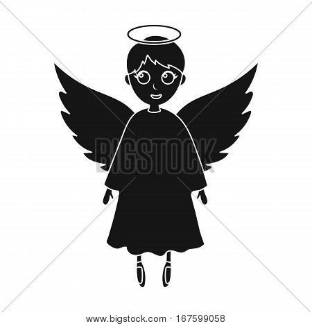 Soul icon in black design isolated on white background. Funeral ceremony symbol stock vector illustration. - stock vector