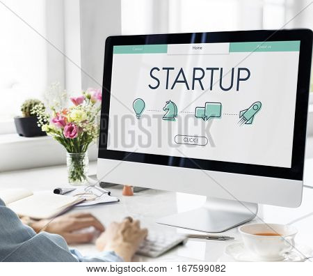 Start Up Business Venture Webpage