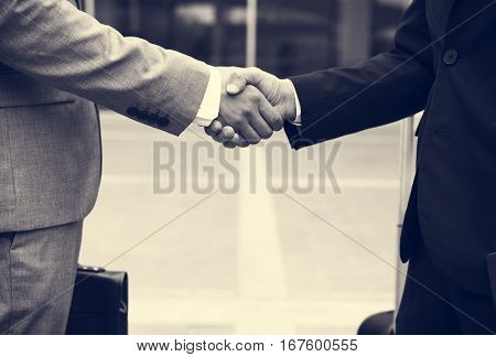 Business Men Agreement Deal Hands Shake