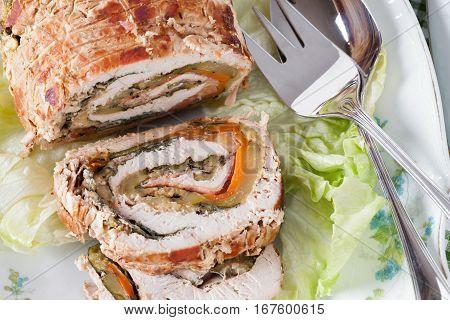 Turkey Roll Closeup