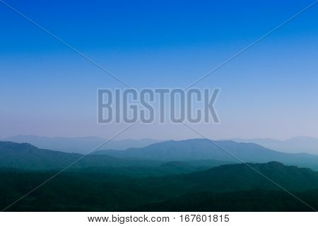 beauty blue sky the cloudless with Mountain
