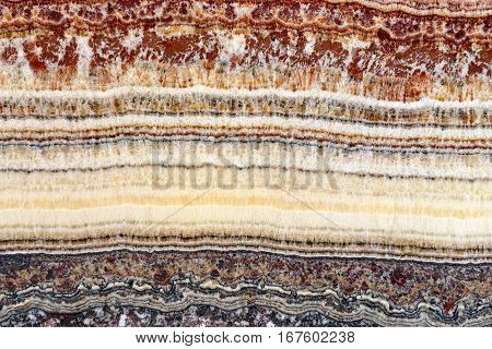 Cross Section of Stratum Sedimentary Layers Marble