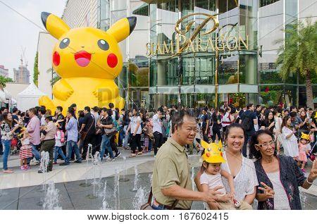 Bangkok Thailand- 14January 2017 :Pokemon Festival at Siam Paragon