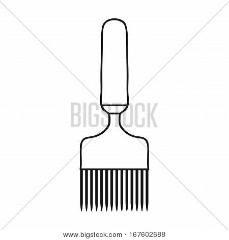 Uncapping fork icon in outline style isolated on white background. Apairy symbol vector illustration - stock vector