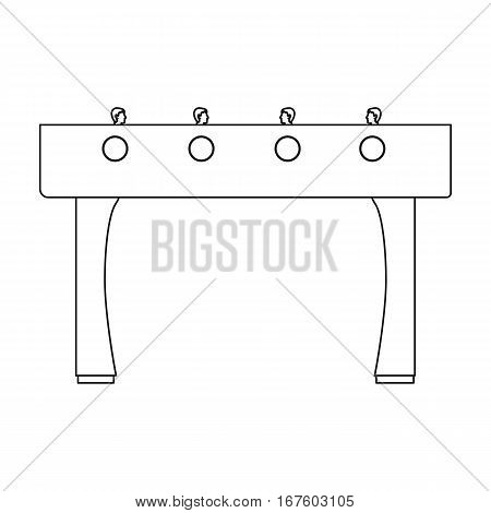 Table football icon in outline style isolated on white background. Board games symbol vector illustration. - stock vector