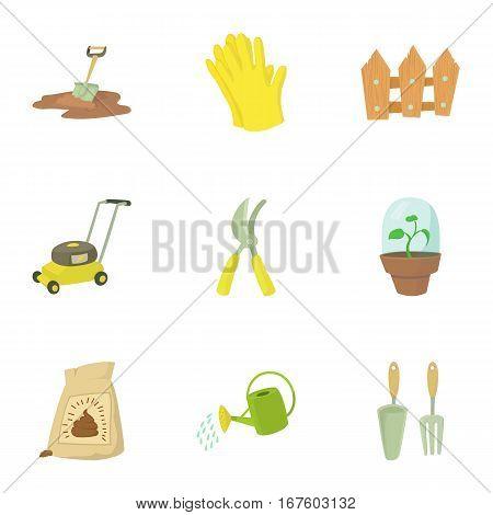 Kaleyard icons set. Cartoon illustration of 9 kaleyard vector icons for web