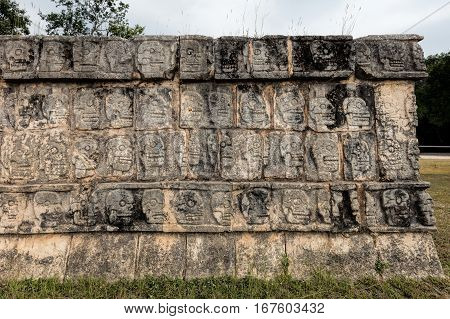 Platform Of The Skulls In Chichen Itza