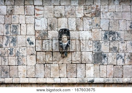 Wall Of The Temple Of A Thousand Warriors In Chichen Itza